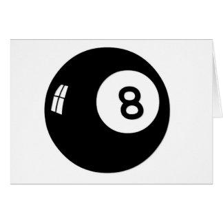 Bola de la magia 8 tarjeta de felicitación