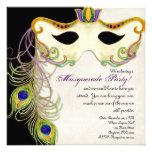 Bola de la máscara de la mascarada del pavo real -