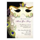 Bola de la máscara de la mascarada del pavo real - comunicado personalizado