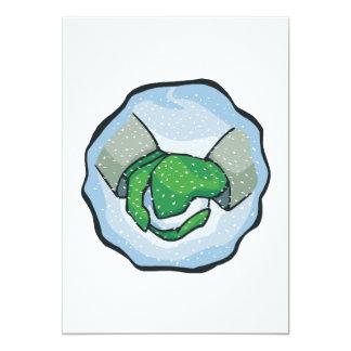 Bola de la nieve invitación 12,7 x 17,8 cm