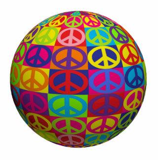 Bola de la paz del estallido escultura fotográfica