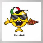 Bola de la pizza impresiones