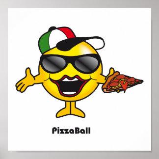 Bola de la pizza póster