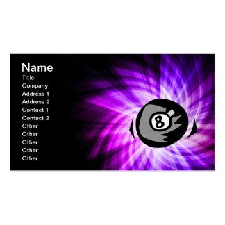 Bola de la púrpura 8 tarjetas de visita