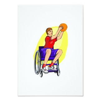 """bola de la silla de ruedas de las señoras invitación 5"""" x 7"""""""