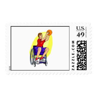 bola de la silla de ruedas de las señoras franqueo