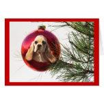 Bola de la tarjeta de Navidad de cocker spaniel