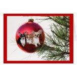 Bola de la tarjeta de Navidad de la chihuahua