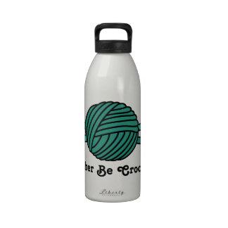 Bola de la turquesa de los ganchos del hilado y de botellas de agua reutilizables