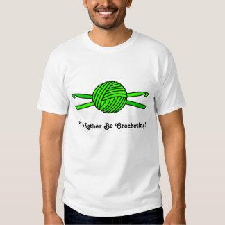 Bola de la verde lima de los ganchos del hilado y playera