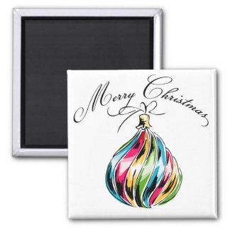 Bola de las Felices Navidad Imán De Frigorifico