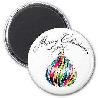 Bola de las Felices Navidad Imanes De Nevera