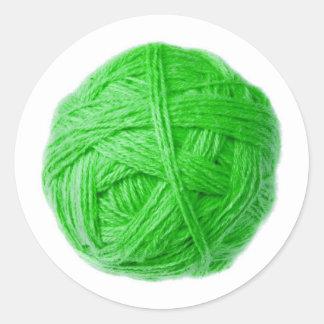 bola de las lanas pegatina redonda