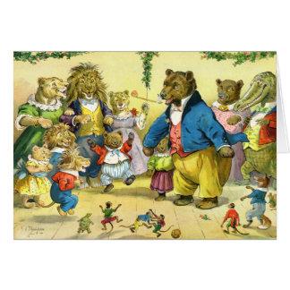 Bola de los animales del navidad tarjeta de felicitación