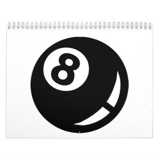 Bola de los billares 8 calendario
