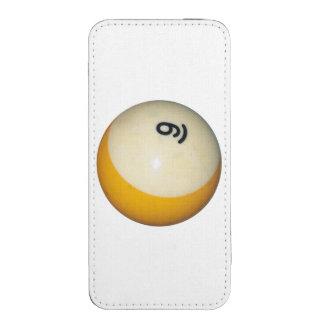 Bola de los billares 9 funda acolchada para iPhone