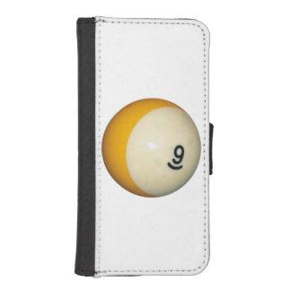 Bola de los billares 9 funda tipo billetera para iPhone 5