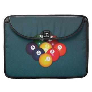 Bola de los billares nueve funda para macbooks