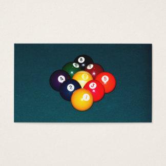 Bola de los billares nueve tarjetas de visita