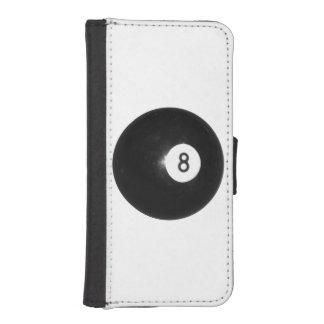 Bola de los billares ocho fundas tipo billetera para iPhone 5