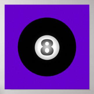 Bola de los billares ocho por SRF Posters