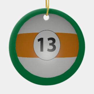 Bola de los billares trece ornamento de navidad