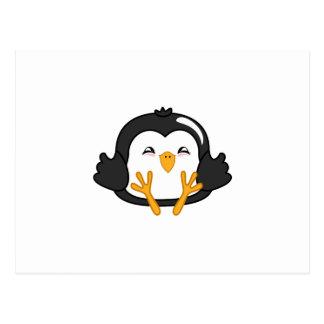 Bola de masa hervida del pingüino tarjeta postal