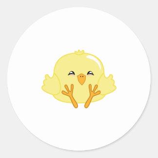 Bola de masa hervida del polluelo etiqueta redonda