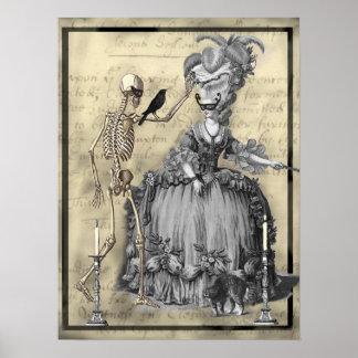 Bola de mascarada de Halloween Posters