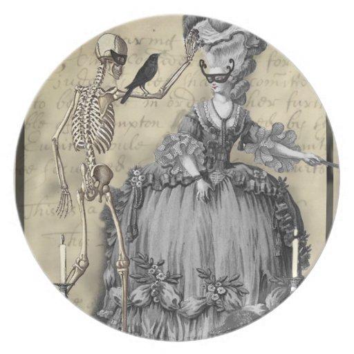 Bola de mascarada de Halloween Plato