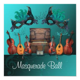 Bola de mascarada de los instrumentos musicales comunicado