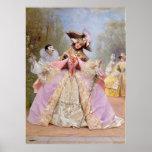 Bola de mascarada del Victorian - poster del carna