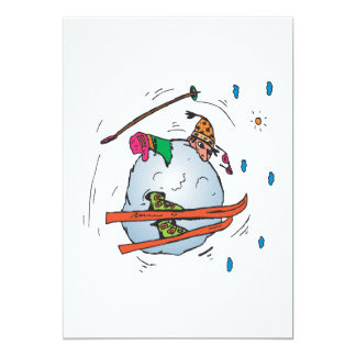 Bola de nieve humana 2 invitación 12,7 x 17,8 cm