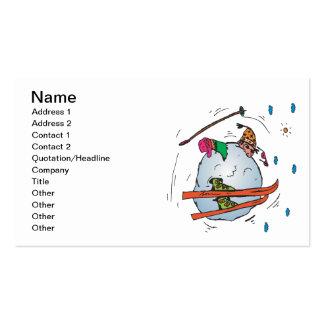 Bola de nieve humana 2 tarjetas de visita