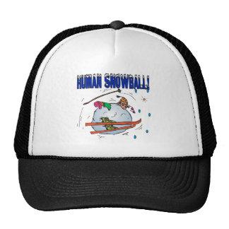 Bola de nieve humana gorros