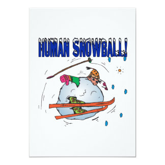 Bola de nieve humana invitación 12,7 x 17,8 cm