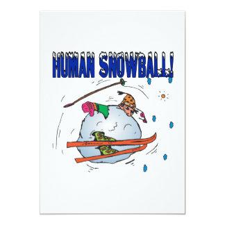 "Bola de nieve humana invitación 5"" x 7"""