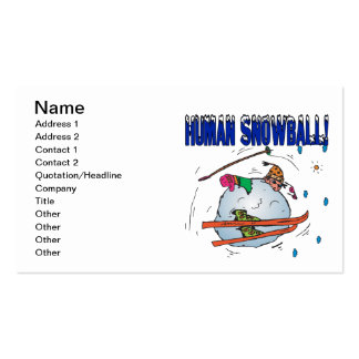 Bola de nieve humana tarjetas de visita