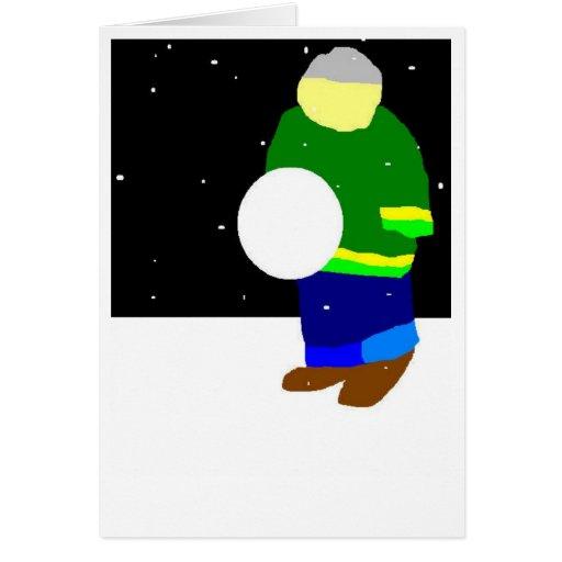 Bola de nieve tarjeta de felicitación
