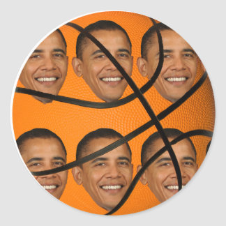 Bola de Obama Etiqueta Redonda