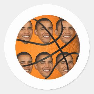 Bola de Obama Pegatina Redonda
