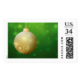 Bola de oro del navidad sello