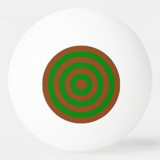 Bola de ping-pong - Brown y círculos íntimos Pelota De Ping Pong
