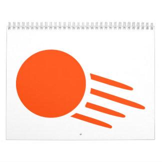 Bola de ping-pong calendarios de pared