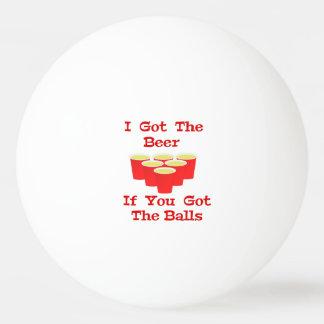 Bola de ping-pong de las bolas de la cerveza n pelota de ping-pong