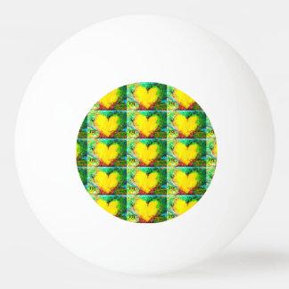 bola de ping-pong de los corazones del oro pelota de tenis de mesa