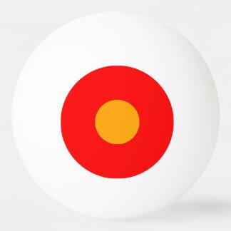 bola de ping-pong de una estrella - rojo y naranja pelota de ping pong