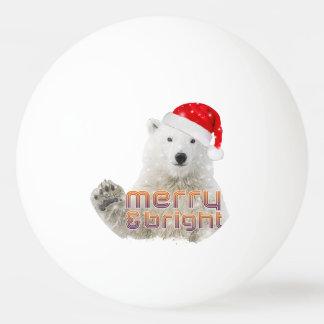 Bola de ping-pong del navidad del oso polar el   pelota de tenis de mesa