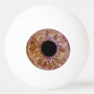 Bola de ping-pong del ojo de Brown Pelota De Tenis De Mesa