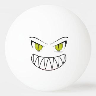 Bola de ping-pong enojada pelota de tenis de mesa